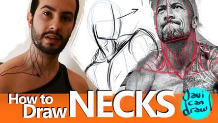 HOW TO DRAW NECKS - A Youtube Tutorial by javicandraw