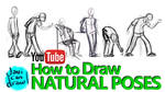 HOW TO DRAW NATURAL POSES - A YouTube Tutorial by javicandraw