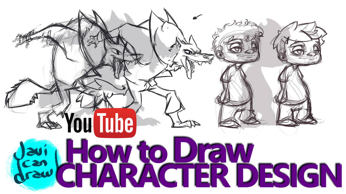 HOW TO DESIGN CHARACTERS - A Youtube Tutorial by javicandraw