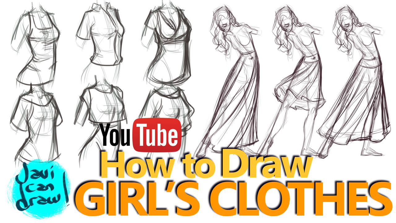 d0231f89f95 HOW TO DRAW FEMALE CLOTHES - A YouTube Tutorial by javicandraw on ...