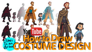 COSTUME DESIGN BASICS - A YouTube Tutorial by javicandraw
