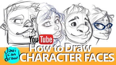 HOW TO DRAW FACES, HAIR, HATS AND GLASSES by javicandraw