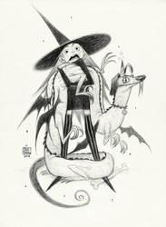 004 Witch with dragondog