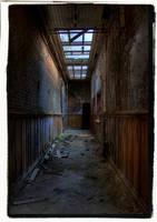 Factory Hallway by Urbex