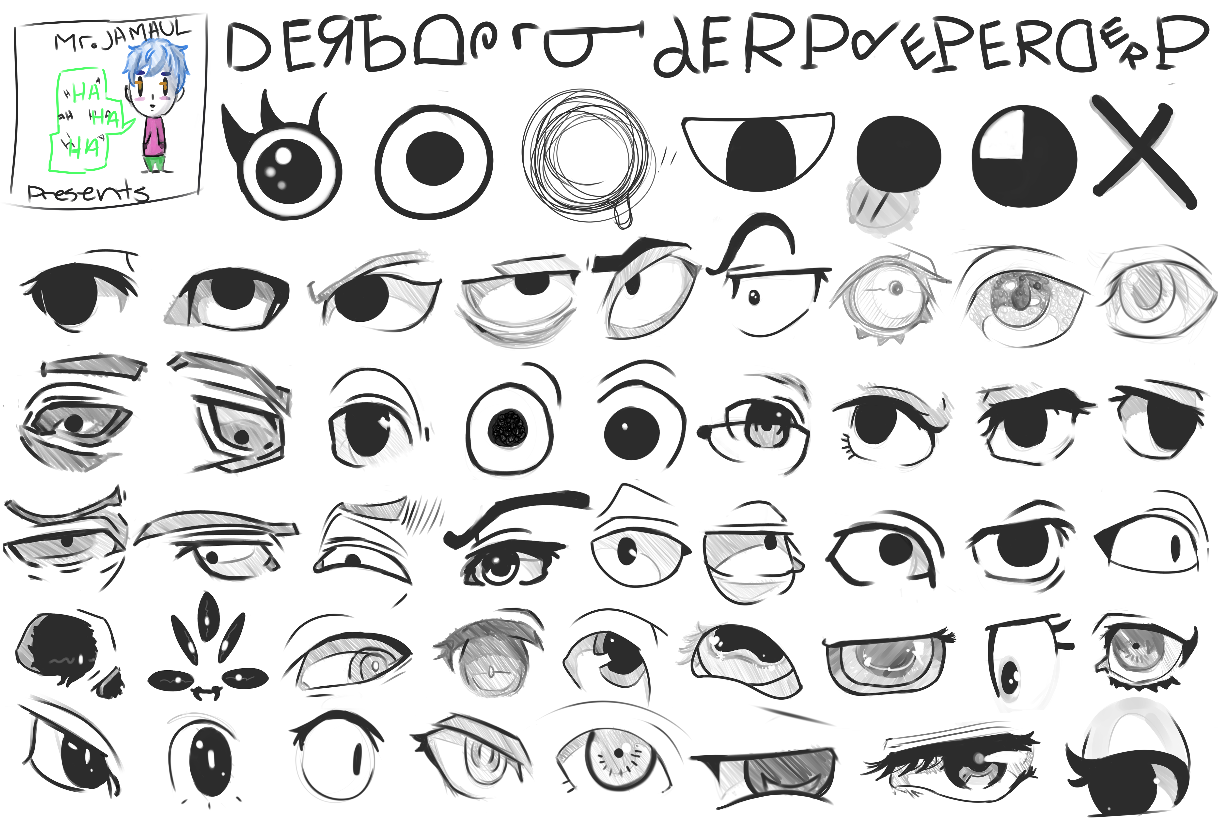 anime    cartoon eye references by mr