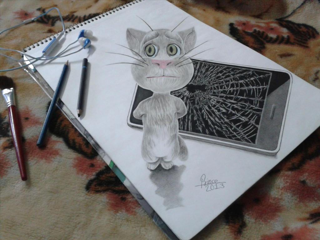 Tom Cat 3d Drawing By Princekumarbhatia On Deviantart