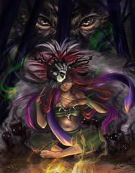 Shaman Girl by ZazzyCreates