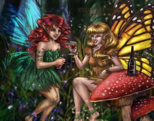 Drinking Fairies by ZazzyCreates