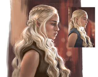 Color Study of Mother of Dragons by ZazzyCreates