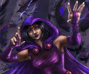 Teen Titans Raven by ZazzyCreates