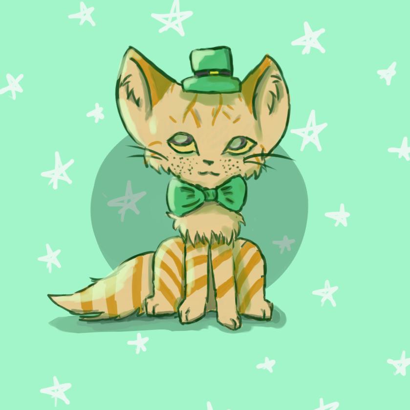 St. Patty Cat by AnimaloverXD