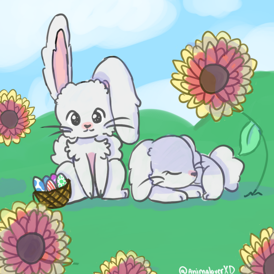 Happy Easter by AnimaloverXD