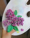 Cold porcelain lilac flowers by DamnedBorn