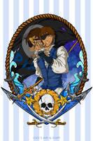 Voltron Pirate AU - Lance (Master Gunner) by CicisArtandStuff