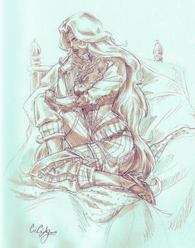 Princess Allura - Voltron Pirate AU Sketch