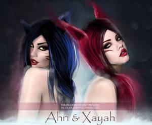 Ahri and Xayah
