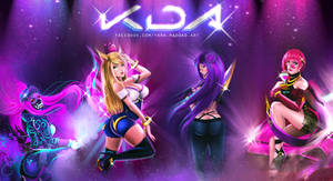 K/DA League of Legends by yarahaddad