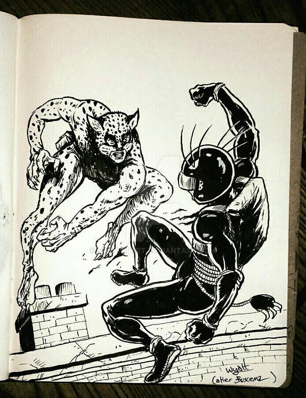 The Leopard of Lime St vs Billy The Cat by swyattart