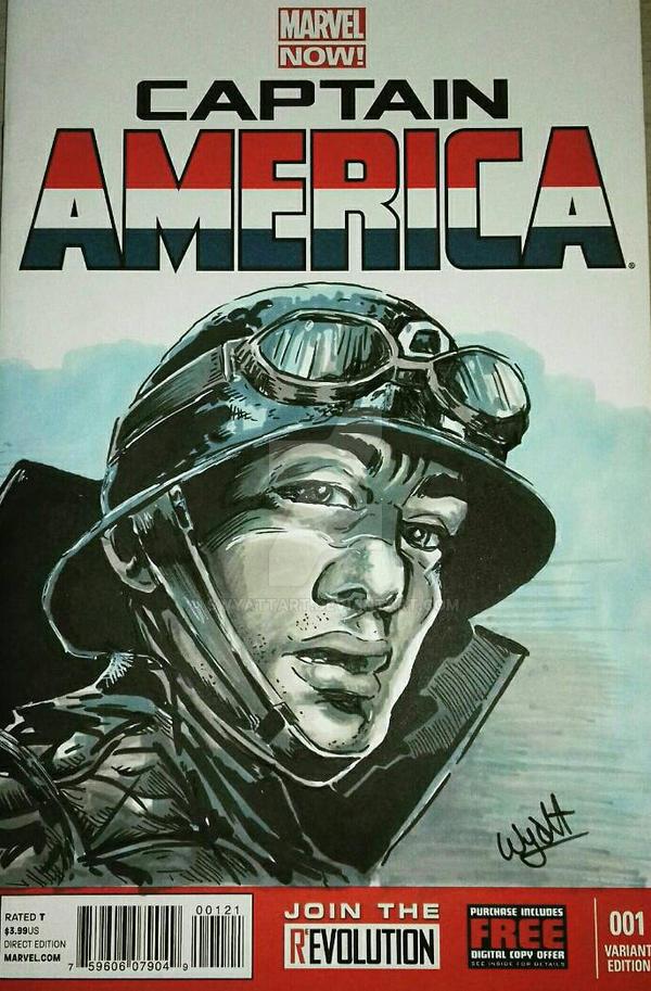 captain America Cover Art by swyattart