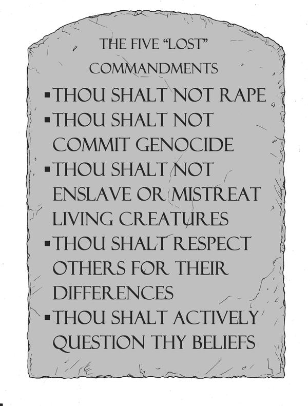 5 Badly-Needed Commandments by baybee-snayx