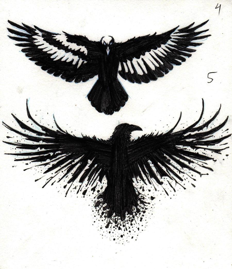 Crow Tattoo Designs By Marcahix On Deviantart