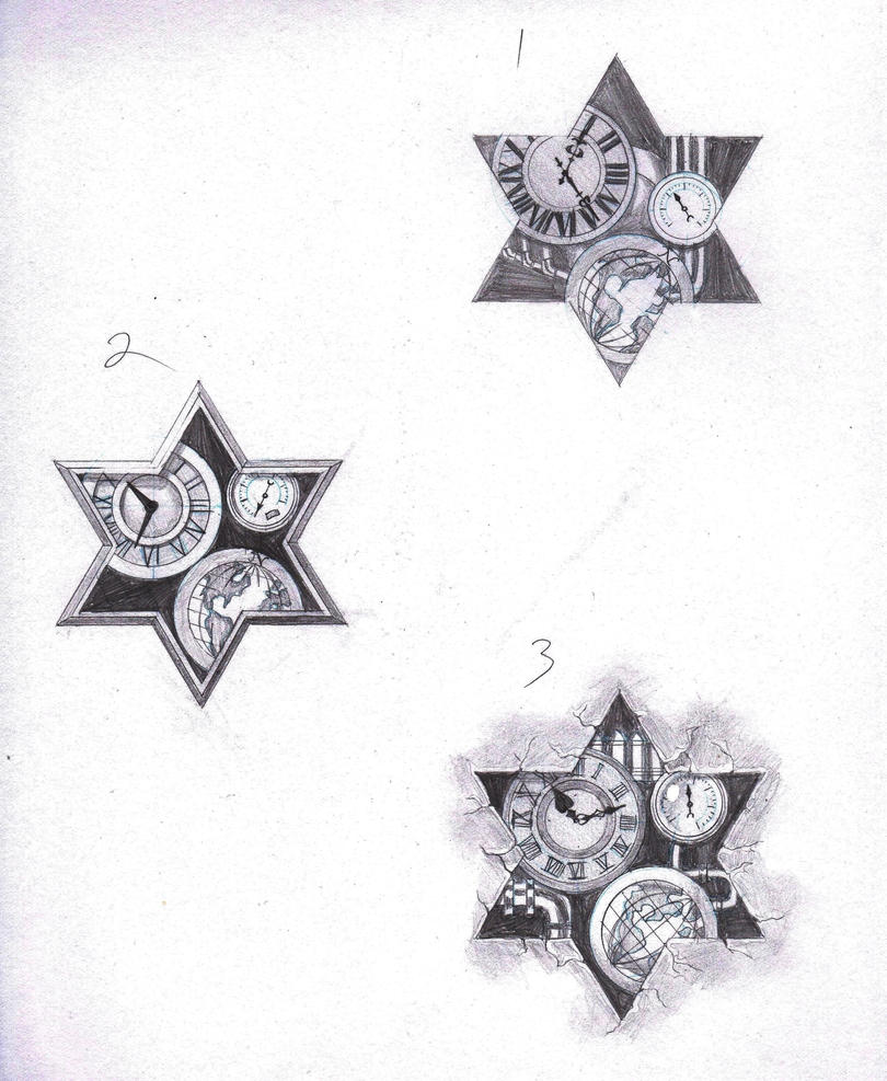 Steampunk Star of David Tattoo Designs by marcAhix on DeviantArt