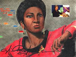 Uhura portrait by tbonematrix