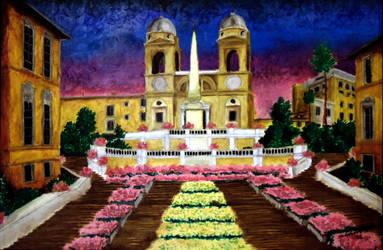 The Spanish Steps by tbonematrix