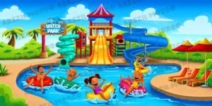 Illustration water park