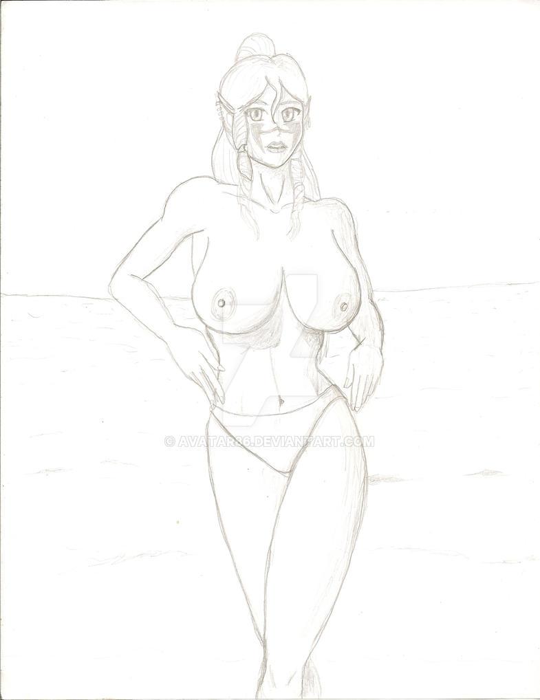 Esayle: Beauty at the Beach by Avatar86
