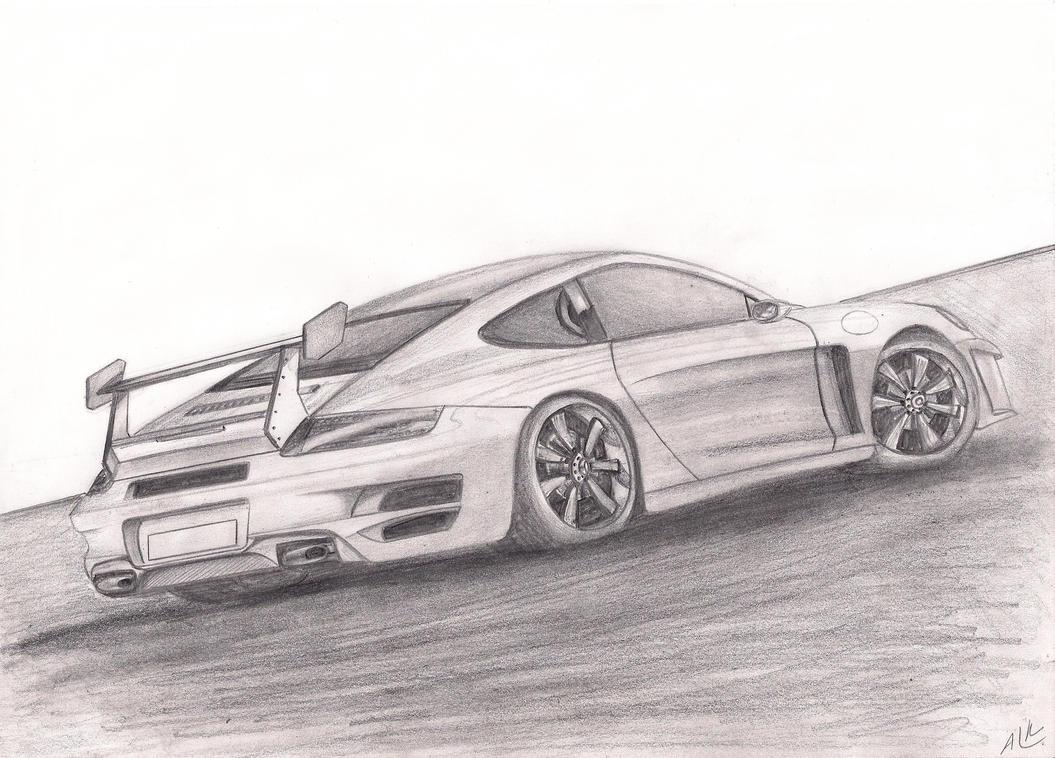 Porsche Gezeichnet