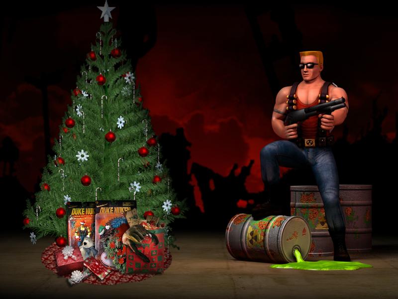 Duke Nukem Christmas Wallpaper HRP Style By TheRumbleRoseNetwork
