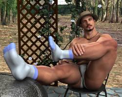 Sitting in the Garden by butchsl