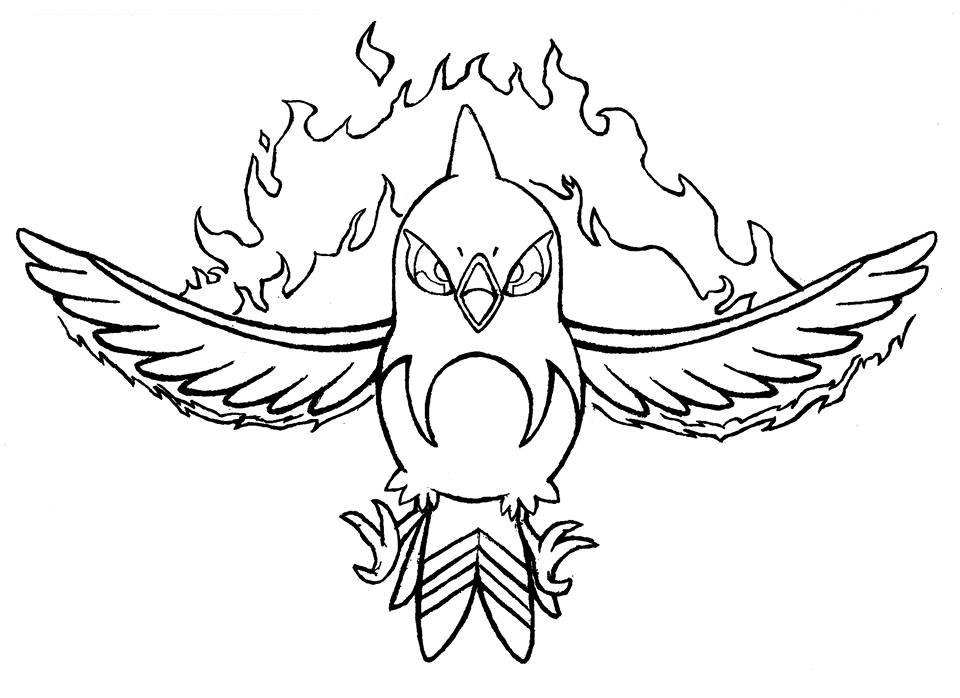 fletchinder pokemon coloring pages - photo #3
