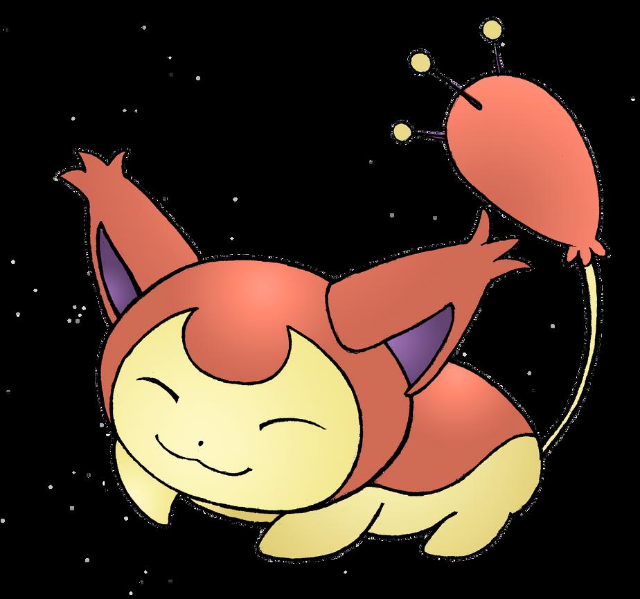 Shiny sleeping skitty commission by realarpmbq on deviantart - Pokemon skitty ...