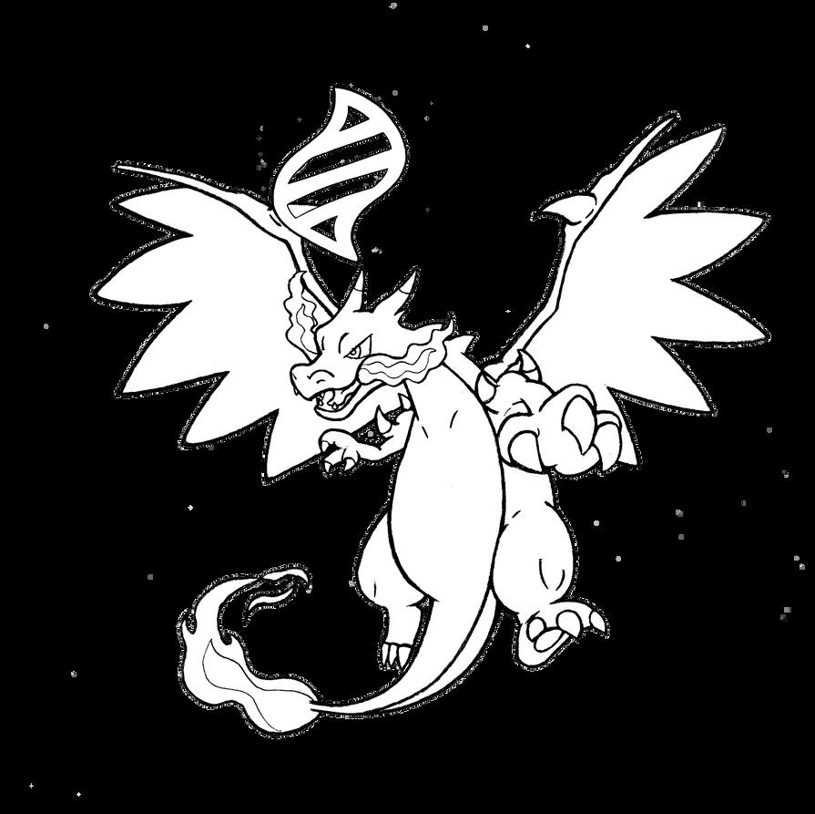 mega charizard x w mega evolution symbol by realarpmbq on