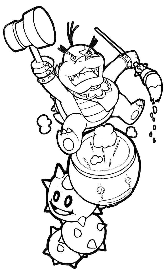 mobile  morton koopalings coloring pages coloring pages