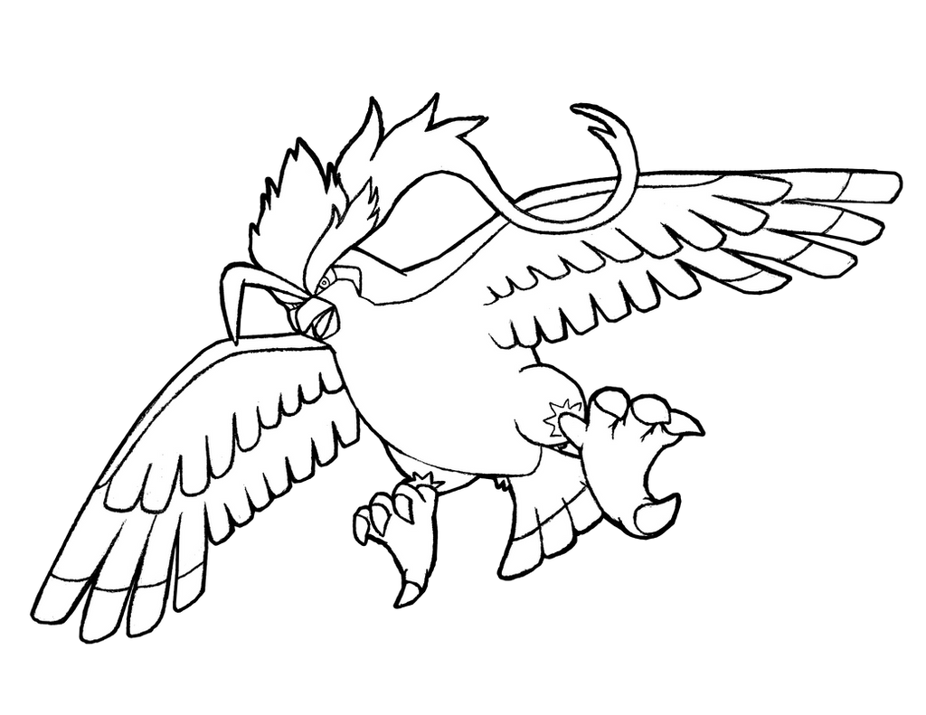 pidgeot pokemon coloring pages - photo#22