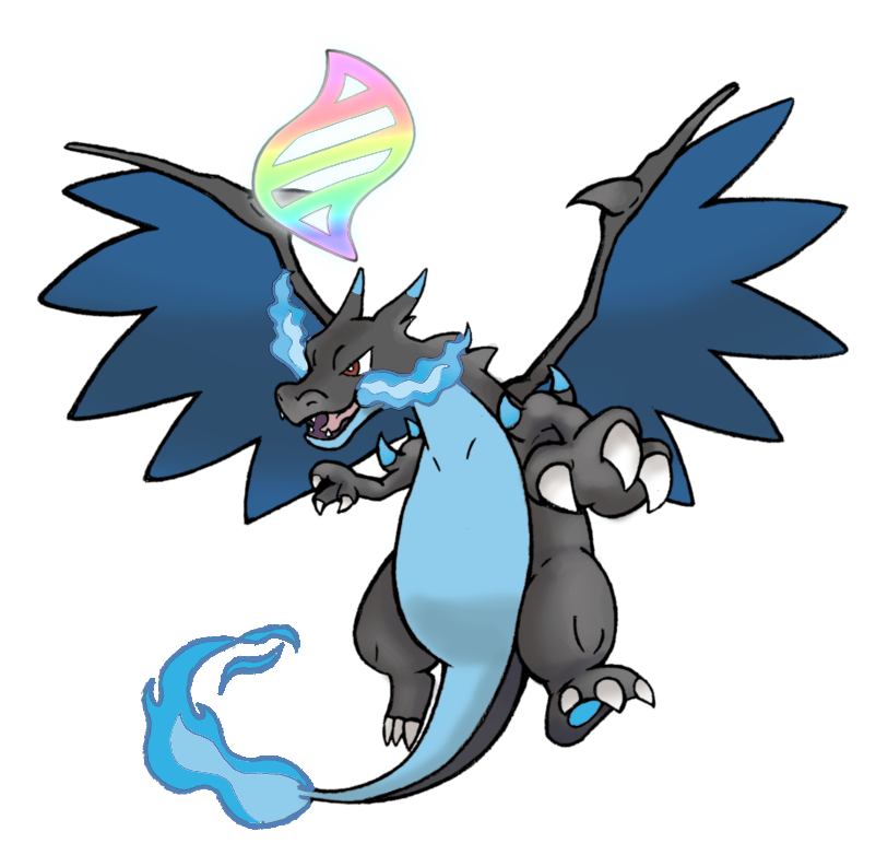 006 Mega Charizard X W Mega Evolution Symbol C By Realarpmbq On