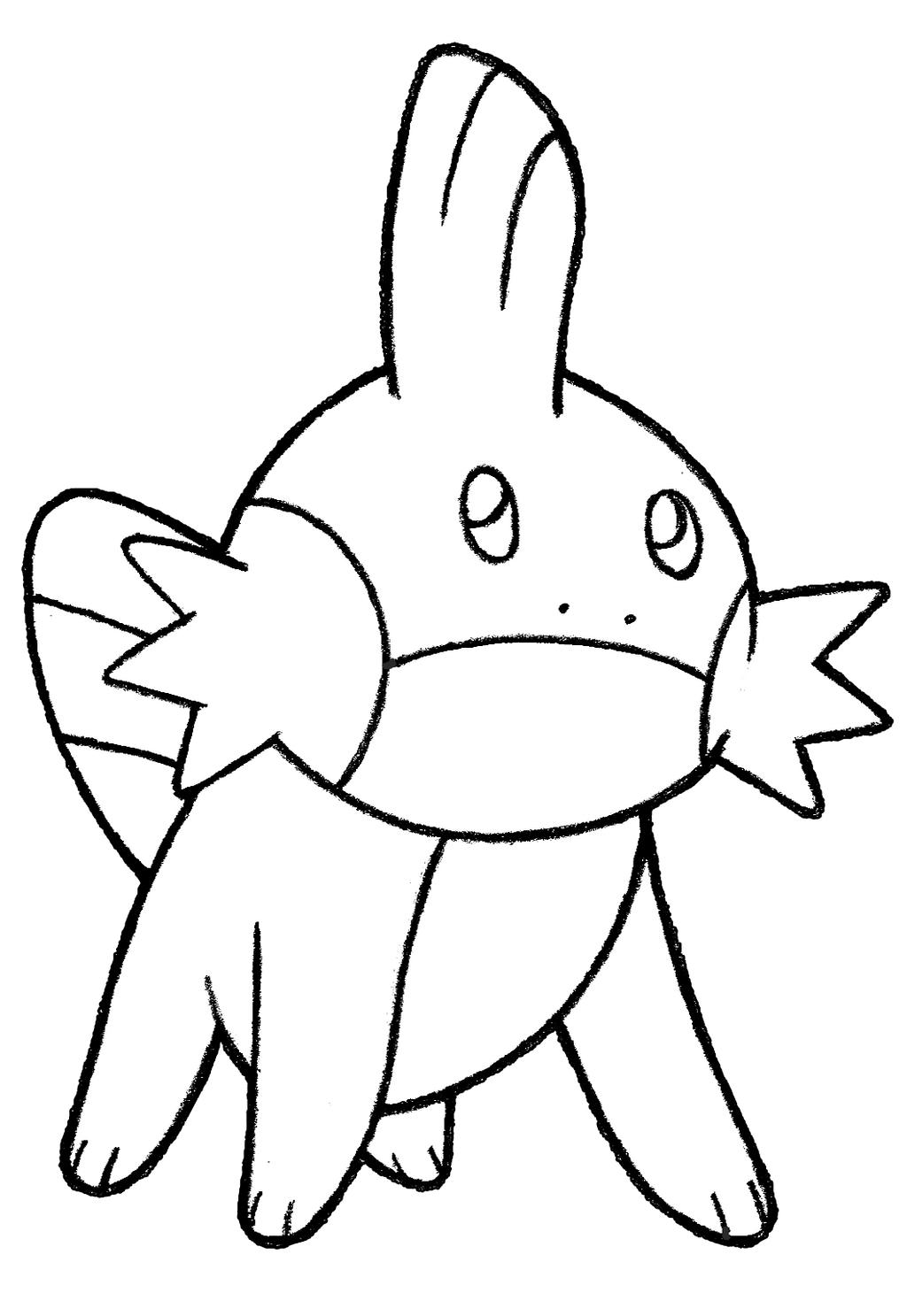 mudkip evolution coloring pages - photo#22