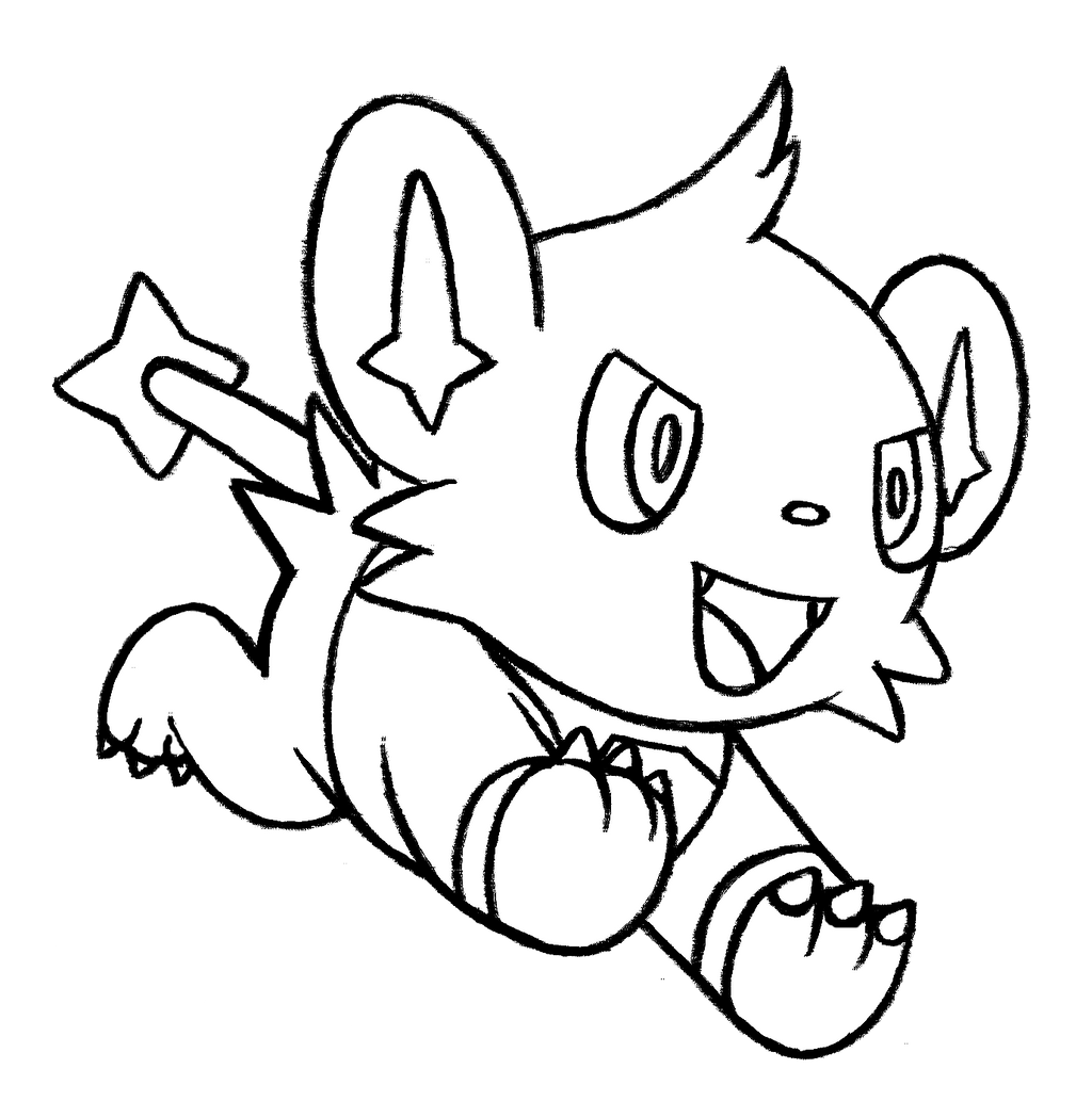 Pokemon Shinx Coloring Pages Images | Pokemon Images