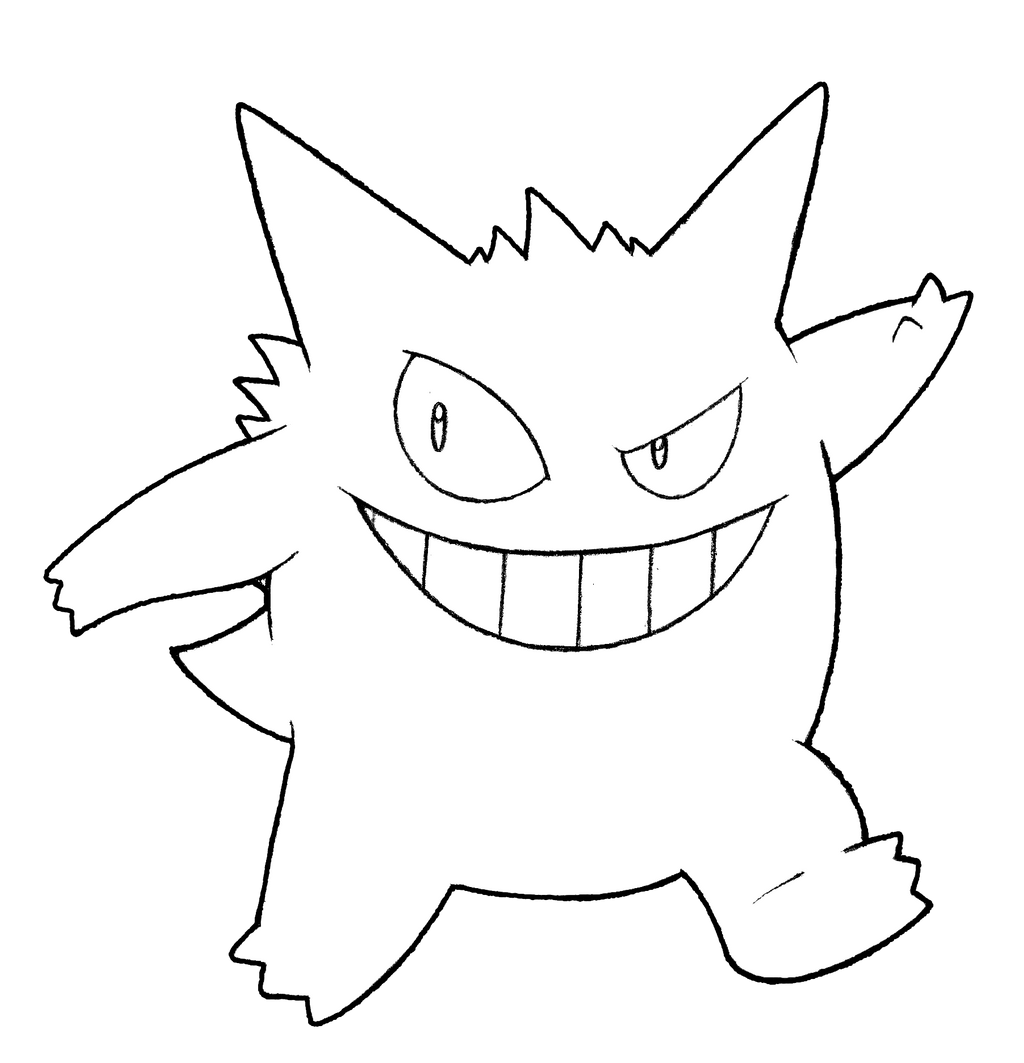Pokemon Gengar Coloring Coloring Pages