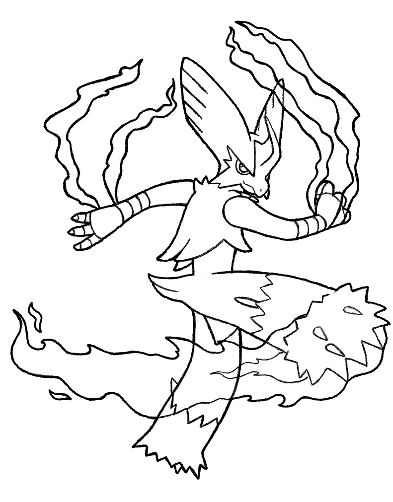 coloring pages blaziken - photo#10