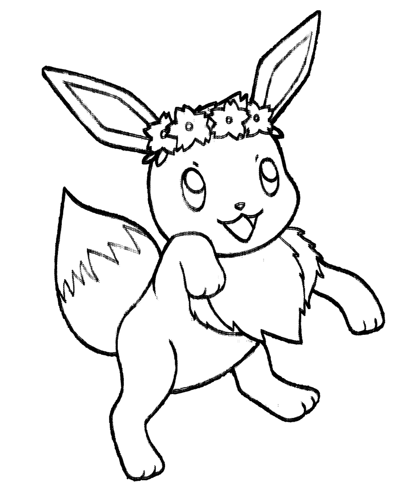 pokemon coloring pages xy - 133 serena 39 s eevee by realarpmbq on deviantart