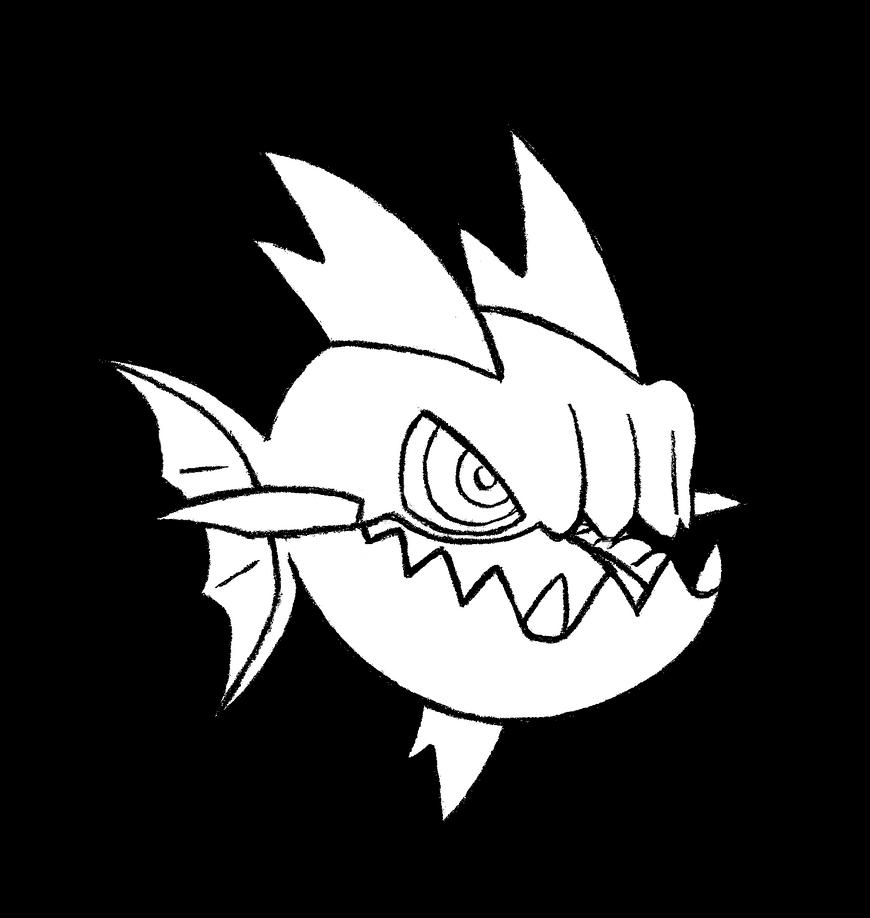 Carvanha Pokemon Kleurplaat 318 Carvanha By Realarpmbq On Deviantart