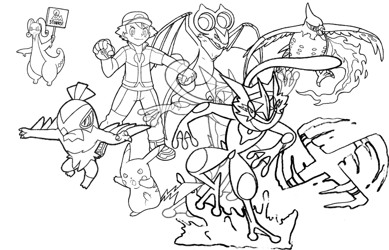 Ash's Current Kalos Team (as of Episode 908) by realarpmbq ...