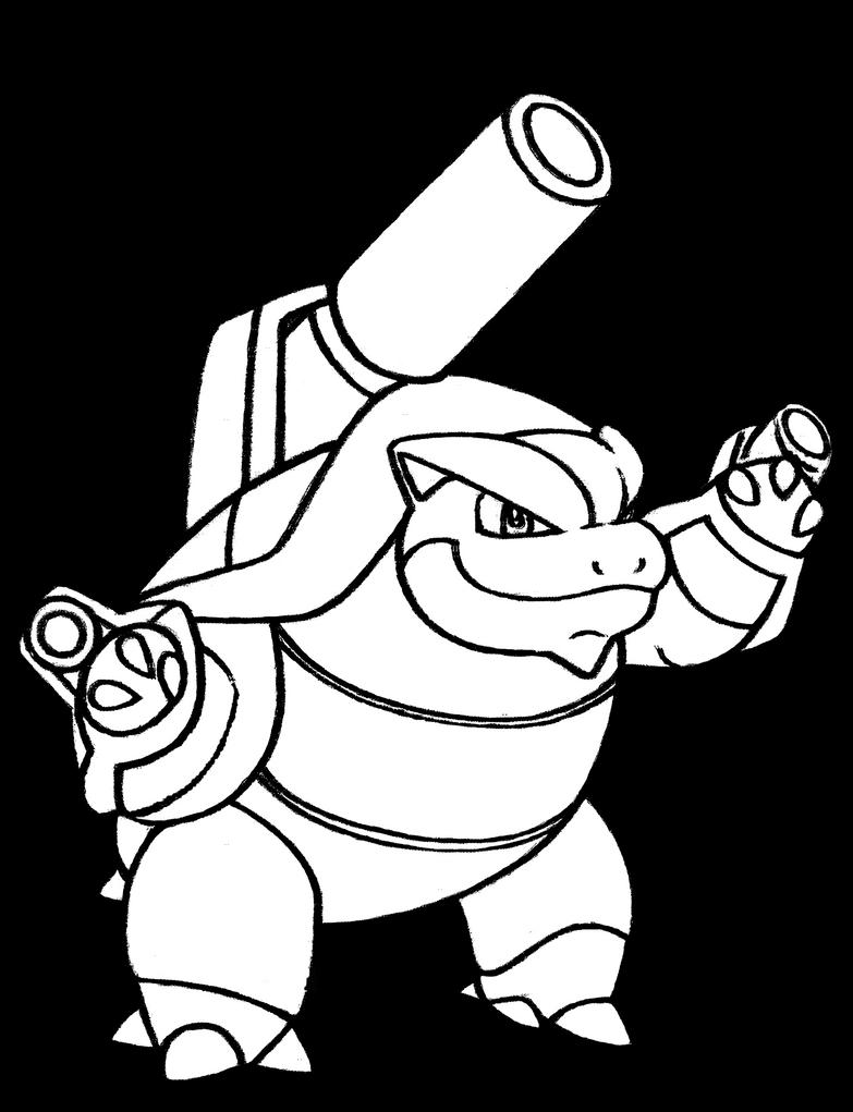 #009 Siebold's Mega Blastoise by realarpmbq on DeviantArt
