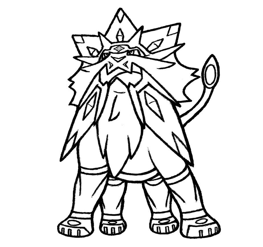 8 Solgaleo By Realarpmbq On Deviantart How To A Coloring Pages