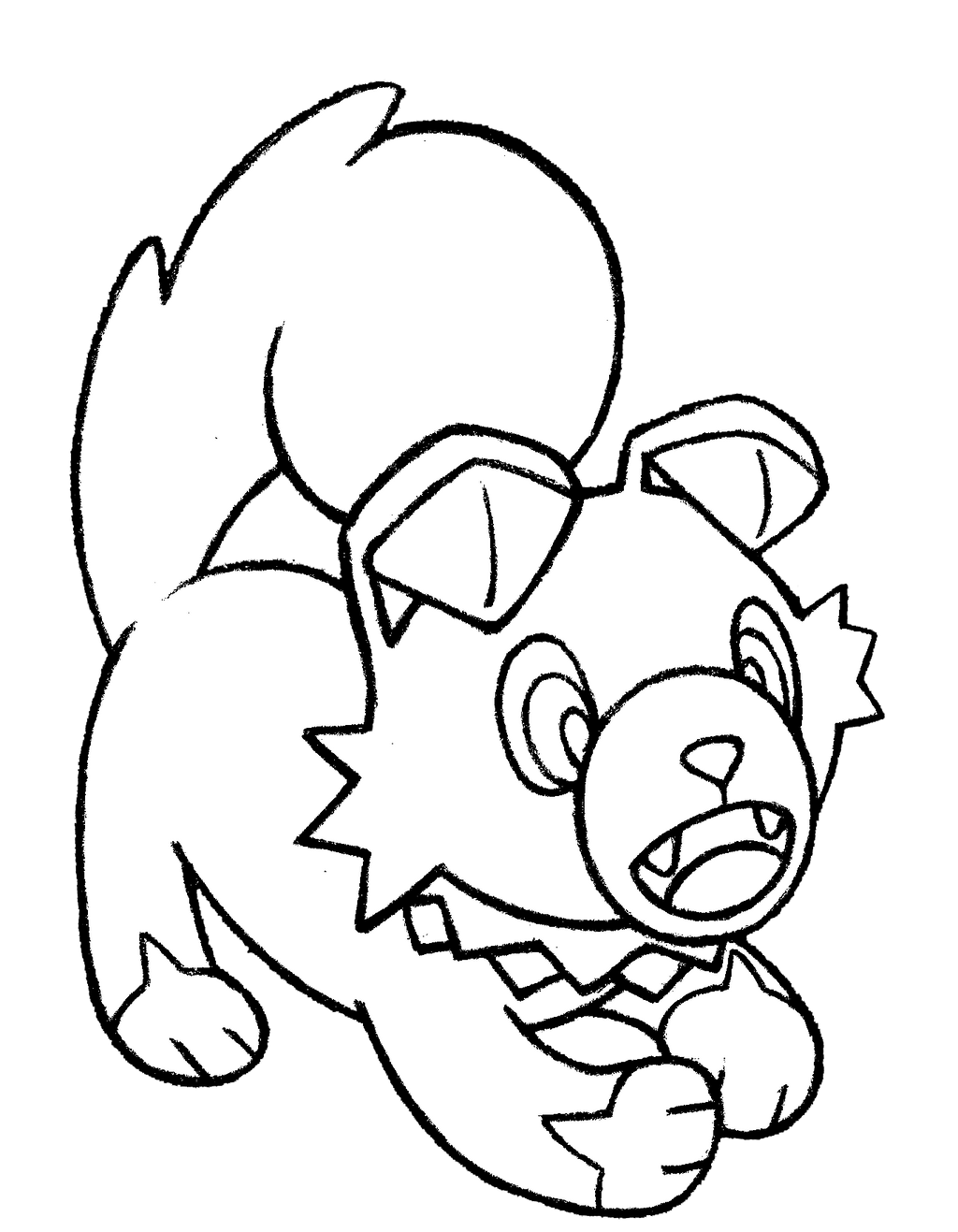 Pokemon Rockruff Kleurplaat Lycanroc Pages Coloring Pages