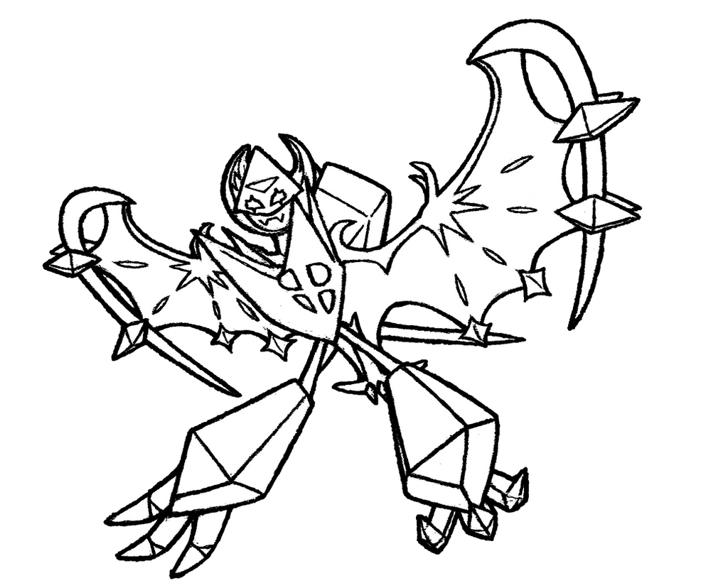 dawn coloring pages | #800 Dawn Wings Necrozma #2 by realarpmbq on DeviantArt